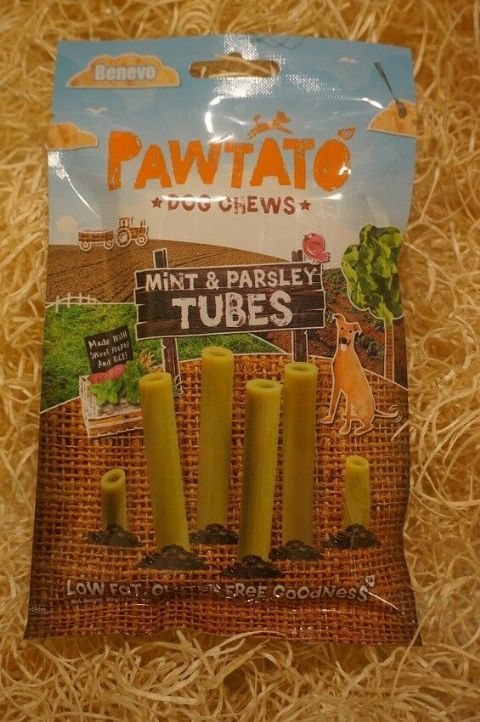 Vegetarian, Vegan & Gluten free Dog treats Pawtato Mint & Parsley Tubes